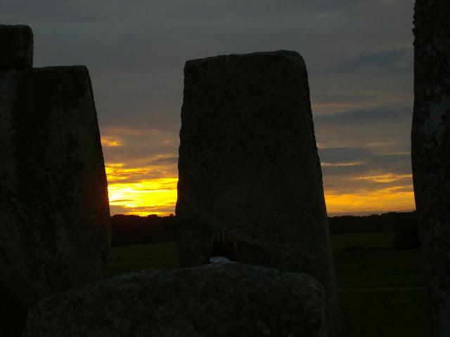 Coucher du soleil sur Stonehenge - août 1988